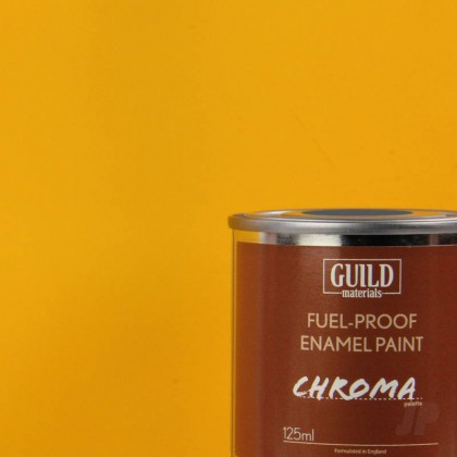 Guild Materials Matt Enamel Fuel-Proof Paint Chroma Cub Yellow (125ml Tin)