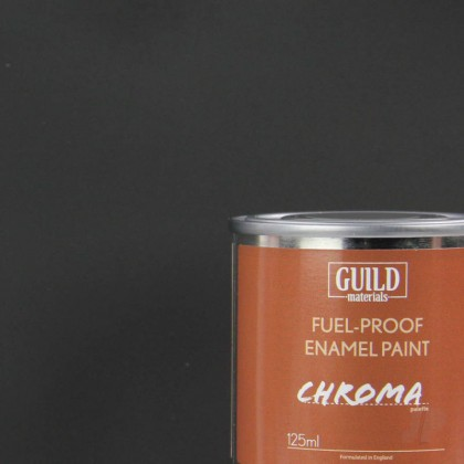 Guild Materials Matt Enamel Fuel-Proof Paint Chroma Black (125ml Tin)