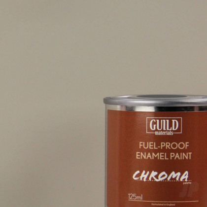 Guild Materials Matt Enamel Fuel-Proof Paint Chroma Light Grey (125ml Tin)