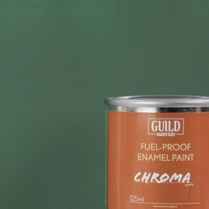 Guild Materials Matt Enamel Fuel-Proof Paint Chroma Dark Green (125ml Tin)
