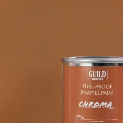Guild Materials Matt Enamel Fuel-Proof Paint Chroma Dark Earth (125ml Tin)