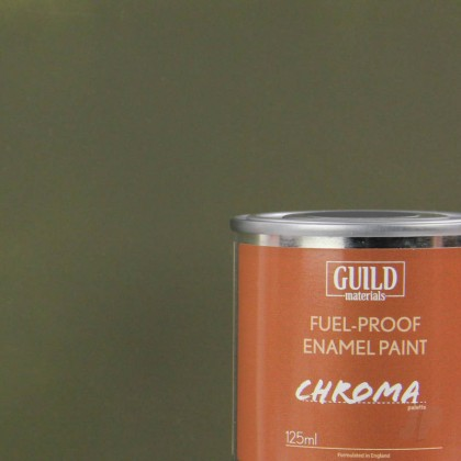 Guild Materials Matt Enamel Fuel-Proof Paint Chroma Olive Drab (125ml Tin)