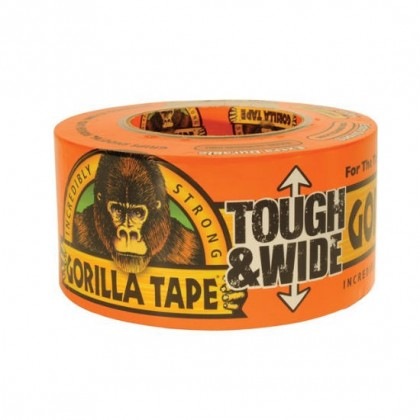Gorilla Tape 73mm x 27m Tough & Wide Black