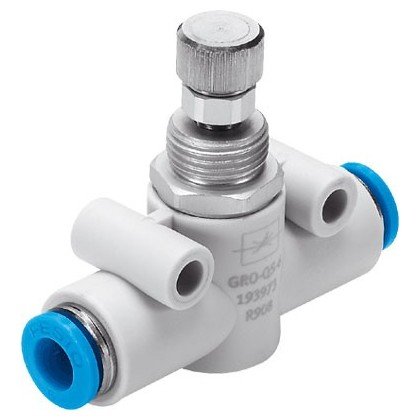 Festo Flow control valve for 3mm Festo Tube ideal for reducing air retract speed GRO-QS-3
