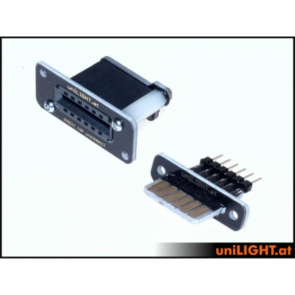UniLight Header Cable Connection 6 Primary Pin 1 Pair HEADER-6P