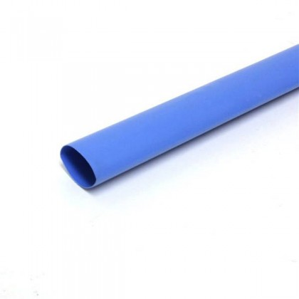 "1/4"" (6.35mm) Heat Shrink Tubing 1 Metre - Blue"