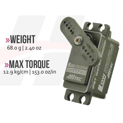 Hitec DB777WP Waterproof, Low-Profile, High Torque, Metal Case Servo 2221301