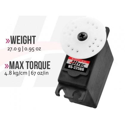 Hitec HS225BB Mighty Mini Servo High Torque 4.8kg & Speed