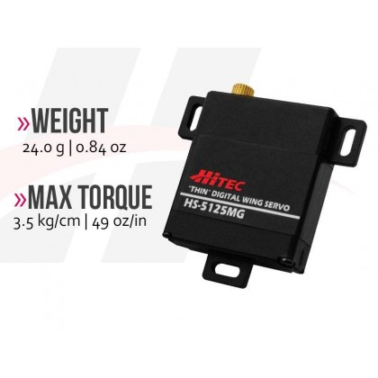Hitec HS5125MG Digital Wing Servo 10mm Thickness 2216560