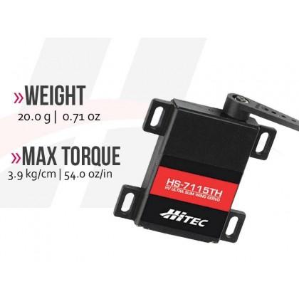Hitec HS7115TH HV Ultra Slim Digital Wing Servo 8mm Thickness