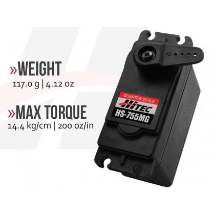 Hitec HS755MG Quarter Scale Metal Gear 2214520
