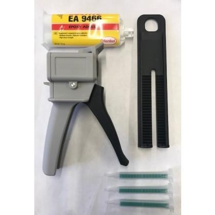 Epoxy Glue Gun Applicator Starter Set with Loctite Hysol Cartridge 9466 & 3 Nozzels
