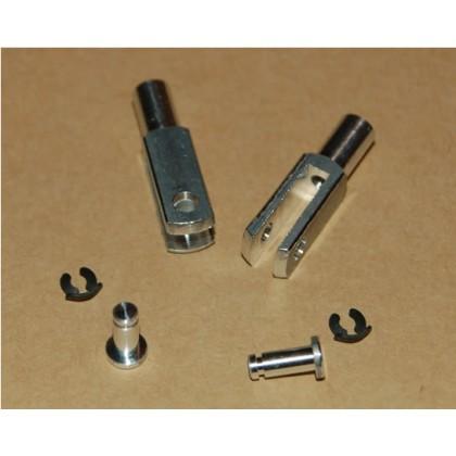 Aluminium Alloy Clevis M3 Pair
