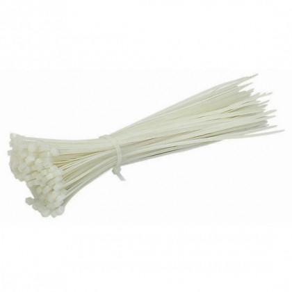 Cable Ties - 2.5 x 100mm - White - Pack Of 100