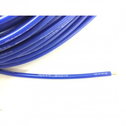 Silicone Wire - 10AWG - Blue. Sold per 1M length from the reel
