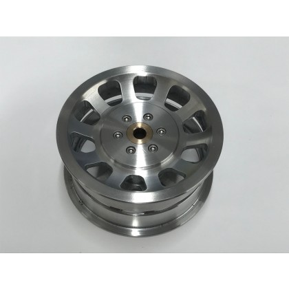 "Robart Aluminium Wheel 6 Spoke Hub Including 3.0"" & Straight Tread Tyre 138C614 + U300 Tyre"
