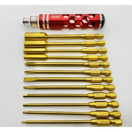Optipower 13in1 Hex Nut Phillips Flat Screwdriver