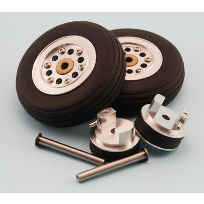 66mm (2.6 inch) Wheels, Mains Set with Brake Units & Axles from Intairco IAC-2004