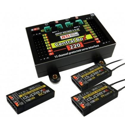 Jeti Central Box 220 + 2 x Rsat2 + RC Switch DUPLEX 2.4EX J-CB-220-RS-RCSW / 80001680