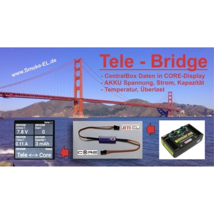 Jeti to Powerbox Core Telemetry Bridge from Smoke Systems