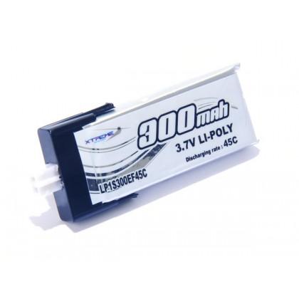 Xtreme Production LI-Po 3.7v 300mAh 45C Blade Nano QX 3D LP1S300EF45C