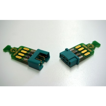 Emcotec MPX 6 pins with connector soldered to PCB 2 pairs A86010-4