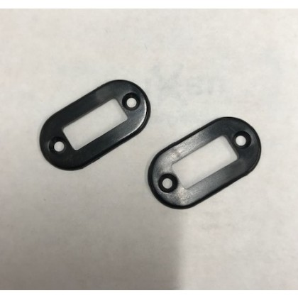 MPX Connector Oval Housing Moulded Trim for 6 Pin Socket Black