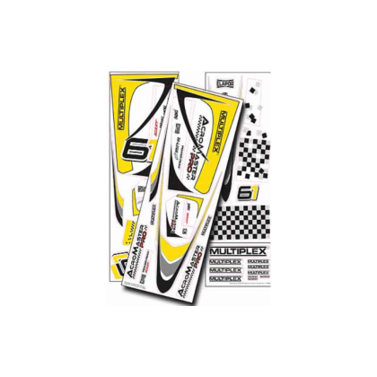 Multiplex Acromaster Pro Decal Set Yellow-Silver 1-01012