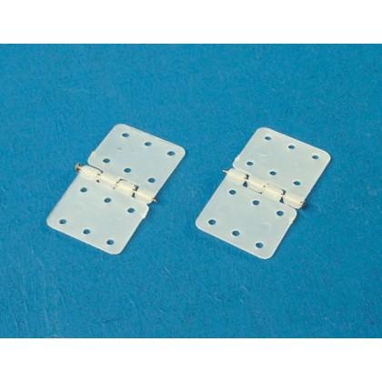 Nylon Hinge With Steel Pin 28x15mm / 10pcs