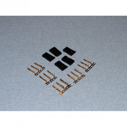 Futaba Servo Plug Set (Gold Pins) 5 pcs  o-fs-futm/05