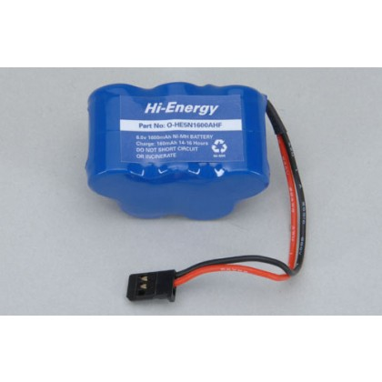 Hi-Energy 6.0v 1600mAh A Ni-MH RX Pack Hump