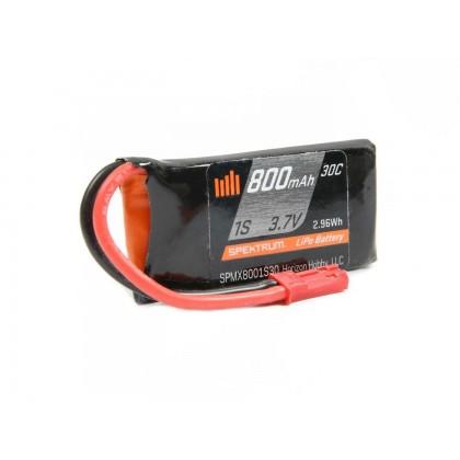 Spektrum 800mAh 1S 3.7V 30C LiPo Battery with JST Connector SPMX8001S30
