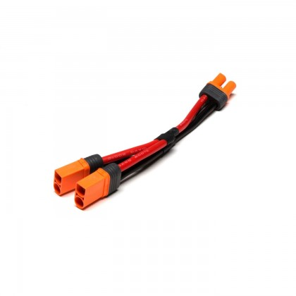 "Spektrum IC5 Battery Parallel Y-Harness with 6""/150mm Wire 10 AWG SPMXCA509"