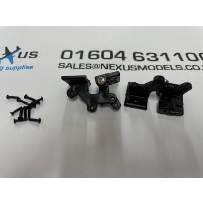Offset Door Hinges 30 x 16mm PK2 Black X2003