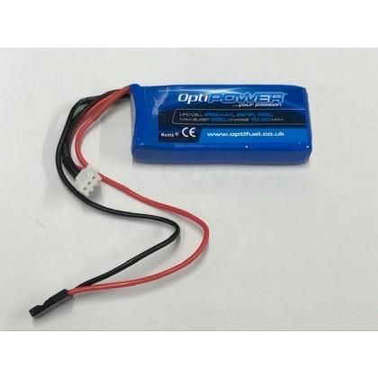 Optipower LiPo Battery 850mAh 2S 30C OPR8502S