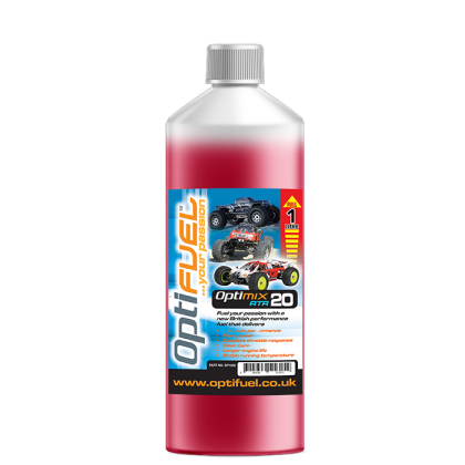Optifuel Optimix RTR 20% Nitro Car Fuel 1 Litre OP1004