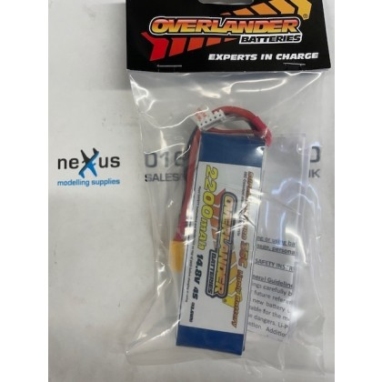Overlander 2200mah 14.8V 4S 35C Supersport Pro LiPo Battery - XT60 - 2568
