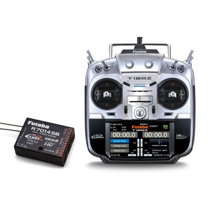 Futaba T18SZ - 18 Channel 2.4GHz Radio Transmitter & R7014SB Receiver (Mode 1)