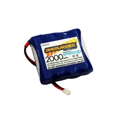 Overlander Panasonic Eneloop 2000mAh AA 4.8v Transmitter TX Flat Spektrum DX8