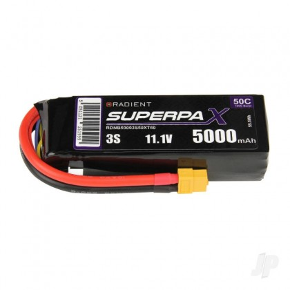Radient LiPo 3S 5000mAh 11.1V 50C with XT60 Battery RDNB50003S50XT60