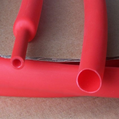 3mm Heat Shrink Tubing - Red 3 - 1 Ratio 200mm Long