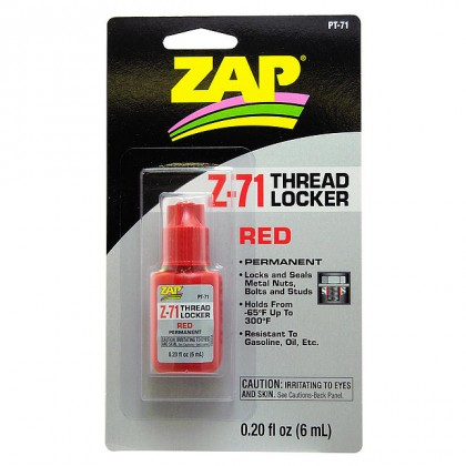 ZAP Z-71 Red Permanent Thread Locker 0.2 oz. PT-71