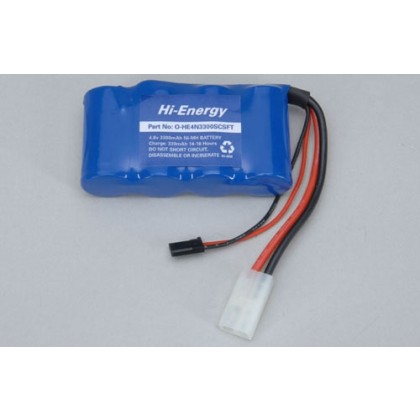 Ripmax Hi-Energy 4.8v 3300mAh Ni-MH Rx Pk Flat O-HE4N3300SCSFT   Supplied with Futaba type Receiver plug and also a high current Lead With Tamiya Connector
