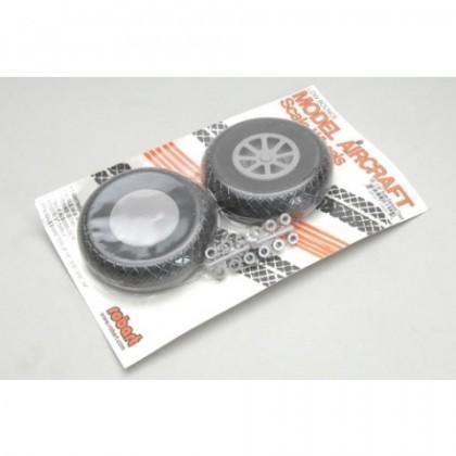"Robart Scale Wheel Diamond Tread 2.75"" Pair RB132"