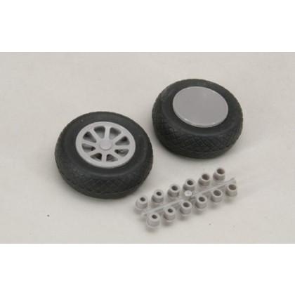 "Robart Scale Wheel Diamond Tread 2.5"" Pair RB131"