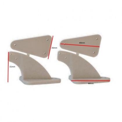 Large Nylon Control Horns (Pair) from Flightline HFL5076