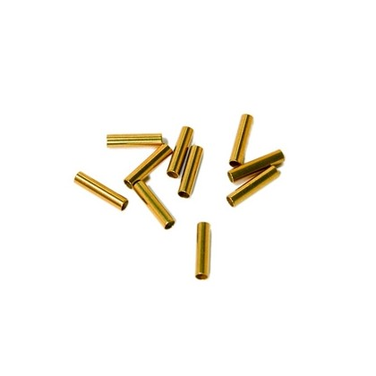 Secraft Replacement Crimps (10 Per Pack) SEC025 Material: Brass Length: 12mm Inside Diameter: 2.5mm Outside Diameter: 3.0mm 10 Per package