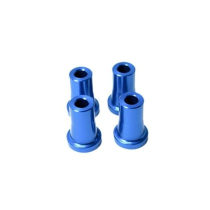 "Secraft Stand Off - 30mm (6mm, 1/4"" Hole) (Blue) SEC096 Stand Off Gas Engine Mount 30mm Hole: 1/4-20 and M6 Bolt 4 per package"