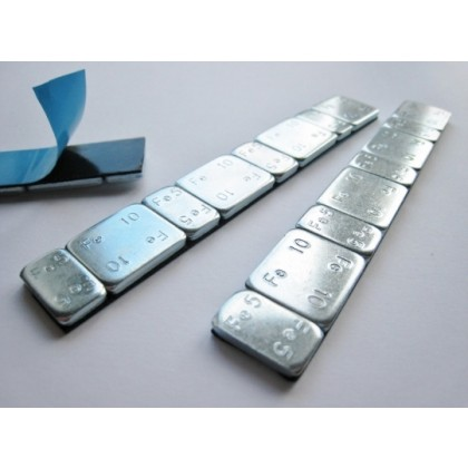 Self Adhesive Balance Weights 60g strip Silver