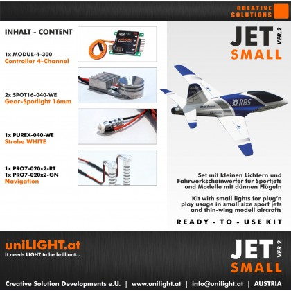 UniLight Jet Small Lighting Set